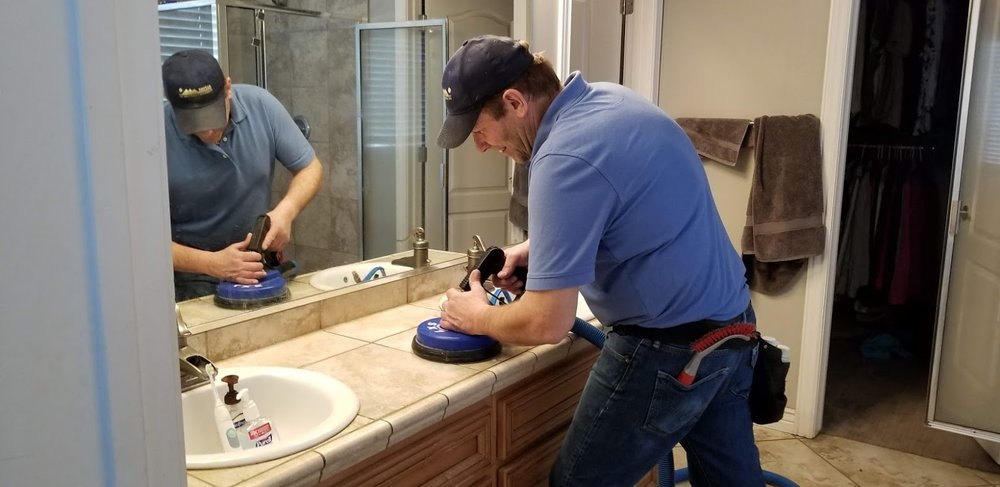 Tile and grout cleaning in Lehi, bathroom counter.jpg