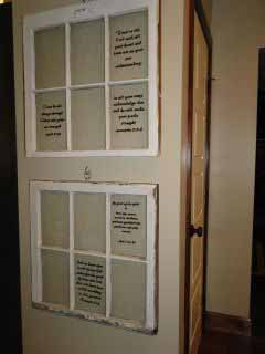 Old windows with favorite scriptures painted on panes.jpg