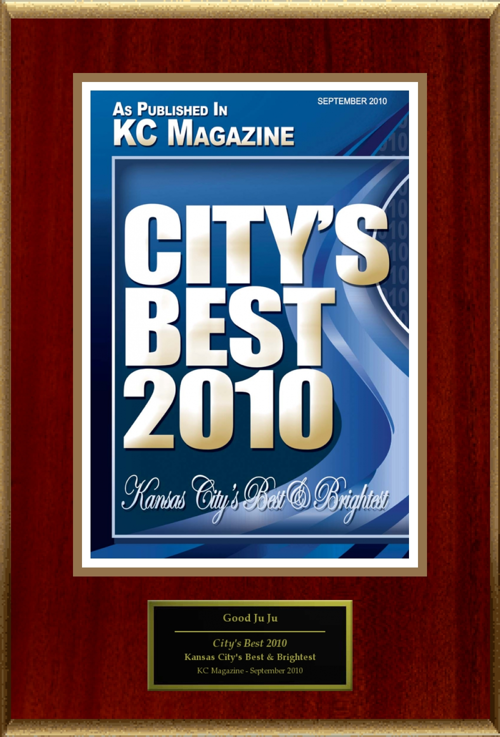 KC Magazine City's Best Award 2010