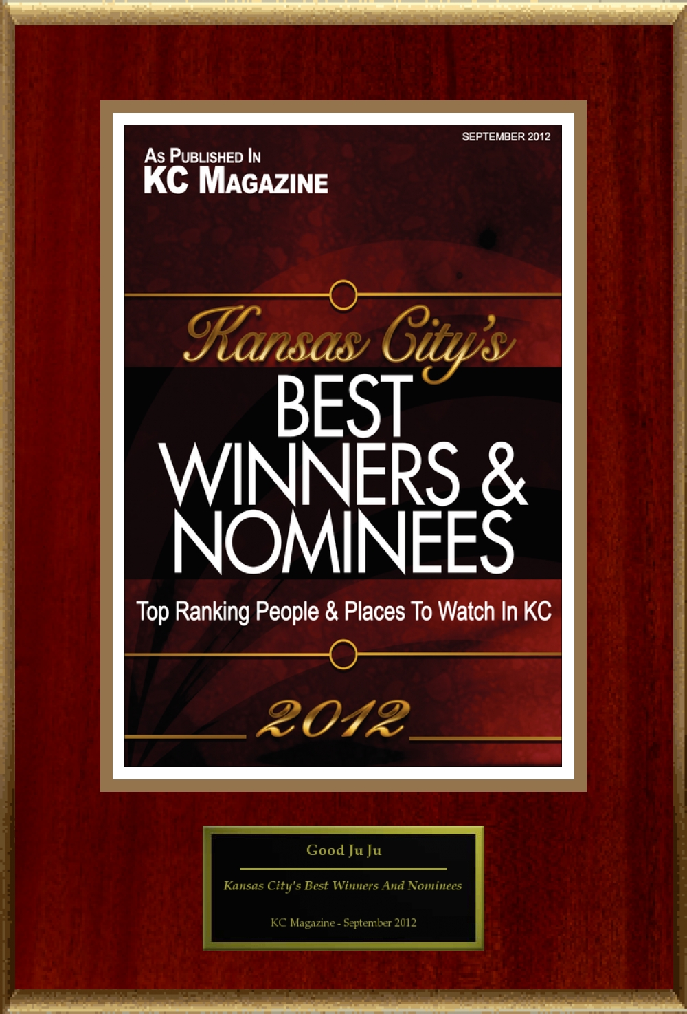 KC Magazine City's Best Award 2012