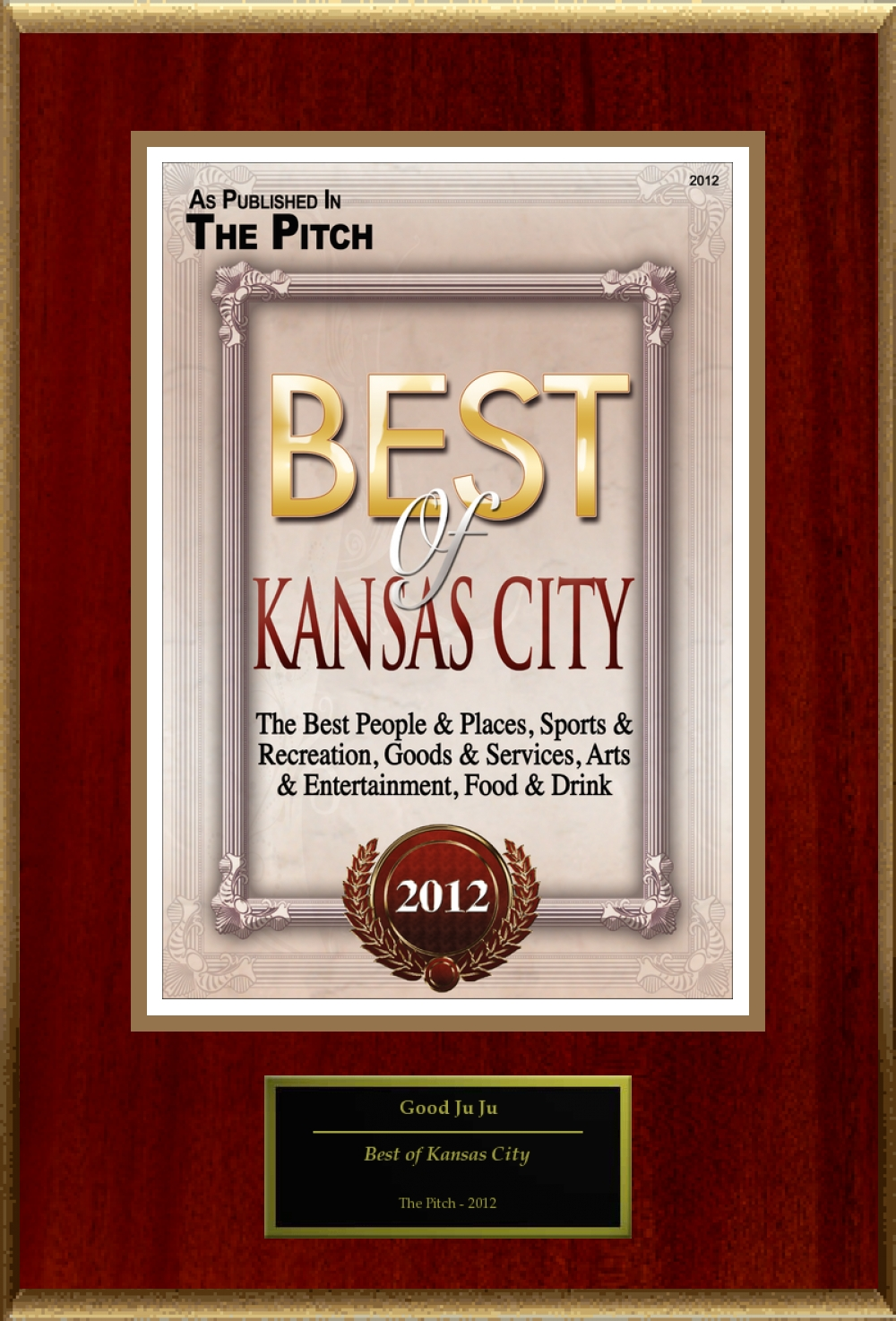 The Pitch Magazine City's Best Award 2012