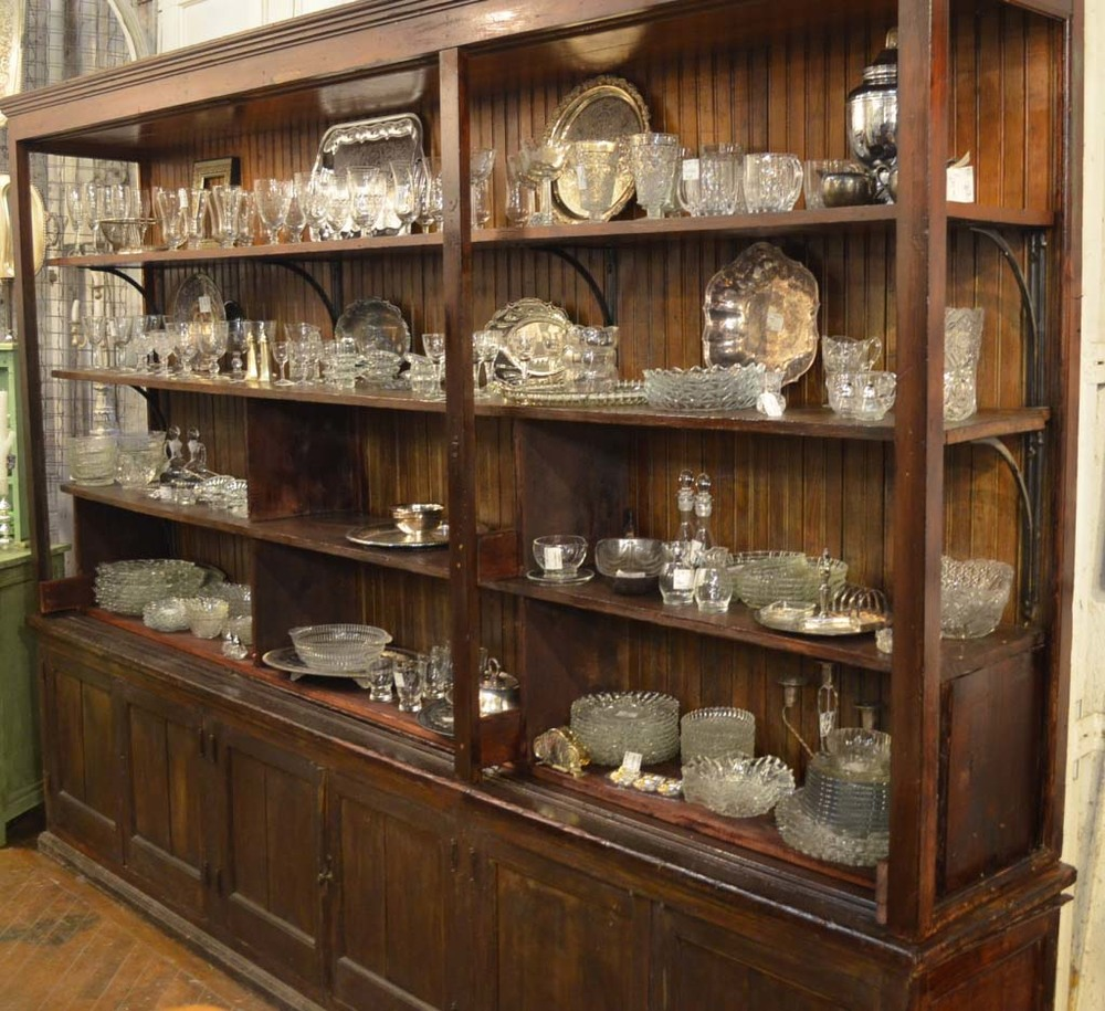 Giant general store cabinet with beadboard back
