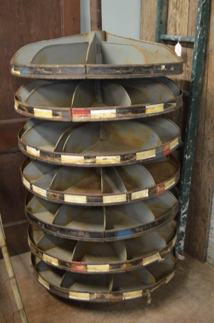 antique nut and bolt storage bin