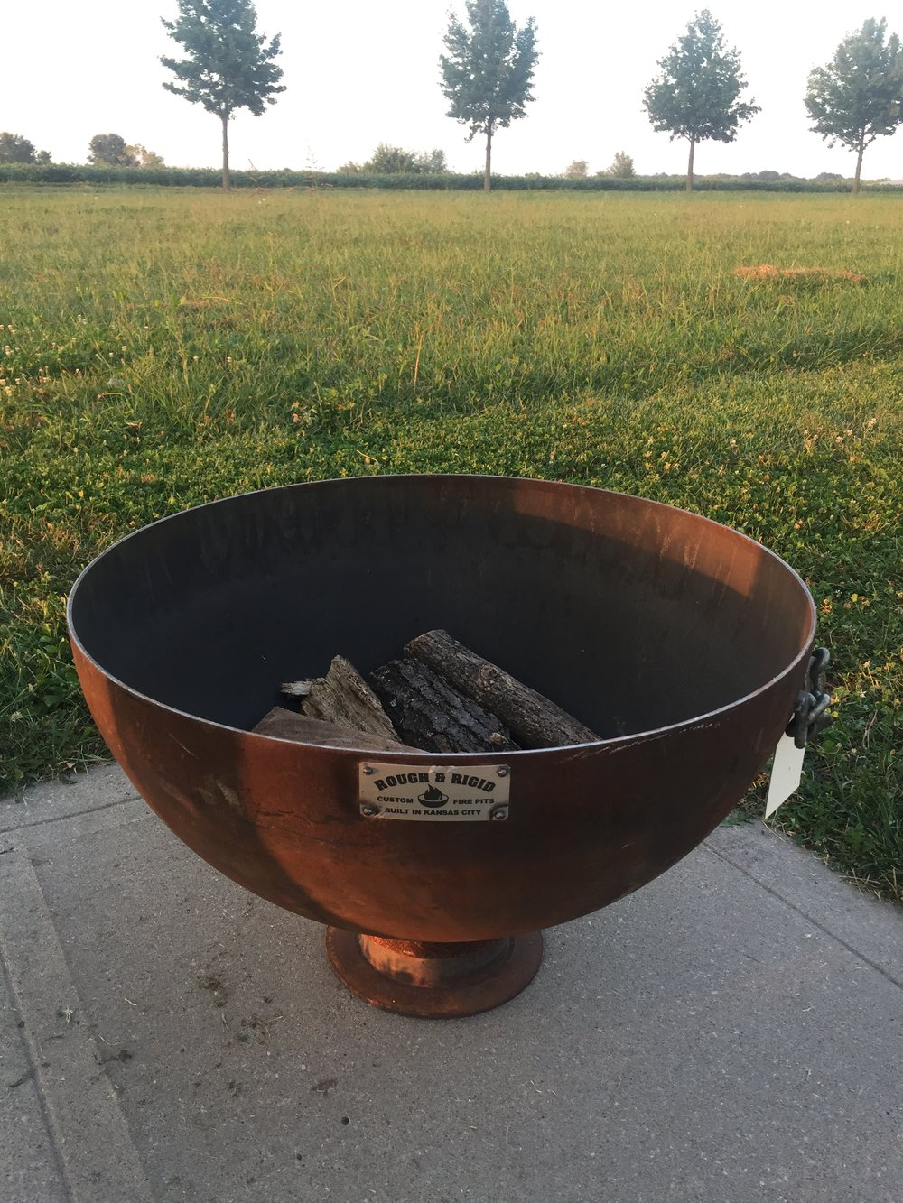 "30"" Heavy Gauge Steel Fire Pit"