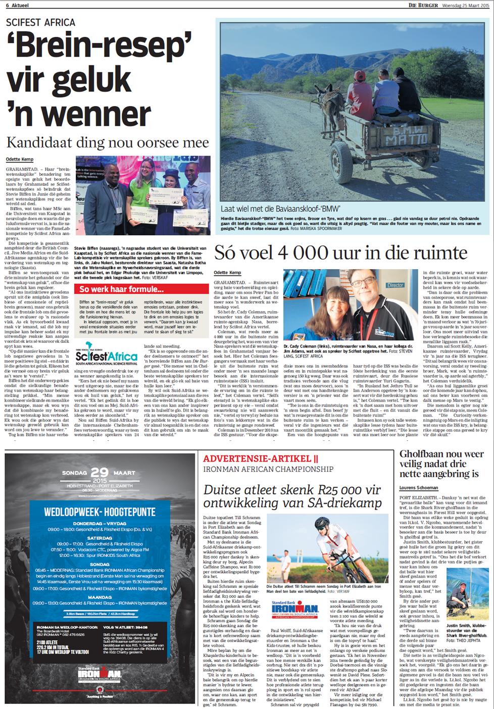 Beeld 31 March 2015 (Afrikaans)