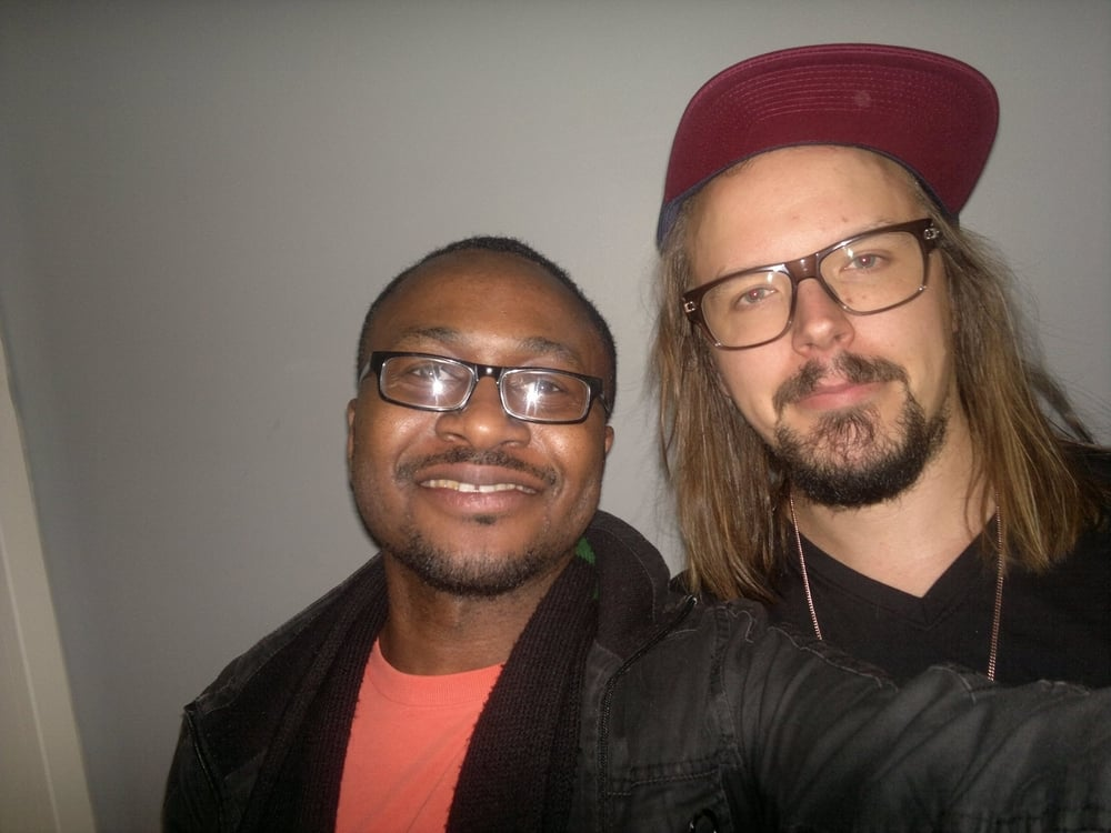 Jukka Poika (Finland's top reggae artist) and ME backstage at Suistoklubi