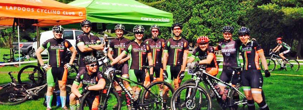 Very pleased to see such a strong presence from the  Duke's Cycle Cannondale LapDogs MTB Squad  at the Long Sock Classic.