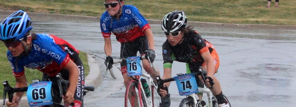 Young Axel... pushing through in the rain and working hard at the Youth Cup Road Race.