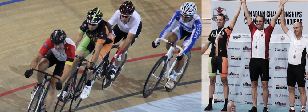 Rick flies the colours at the Track National Championships.