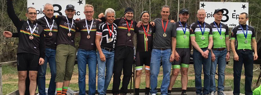 The LapDogs pretty much took over the podium at the Spring Epic 8 in the 4 Person Open Category