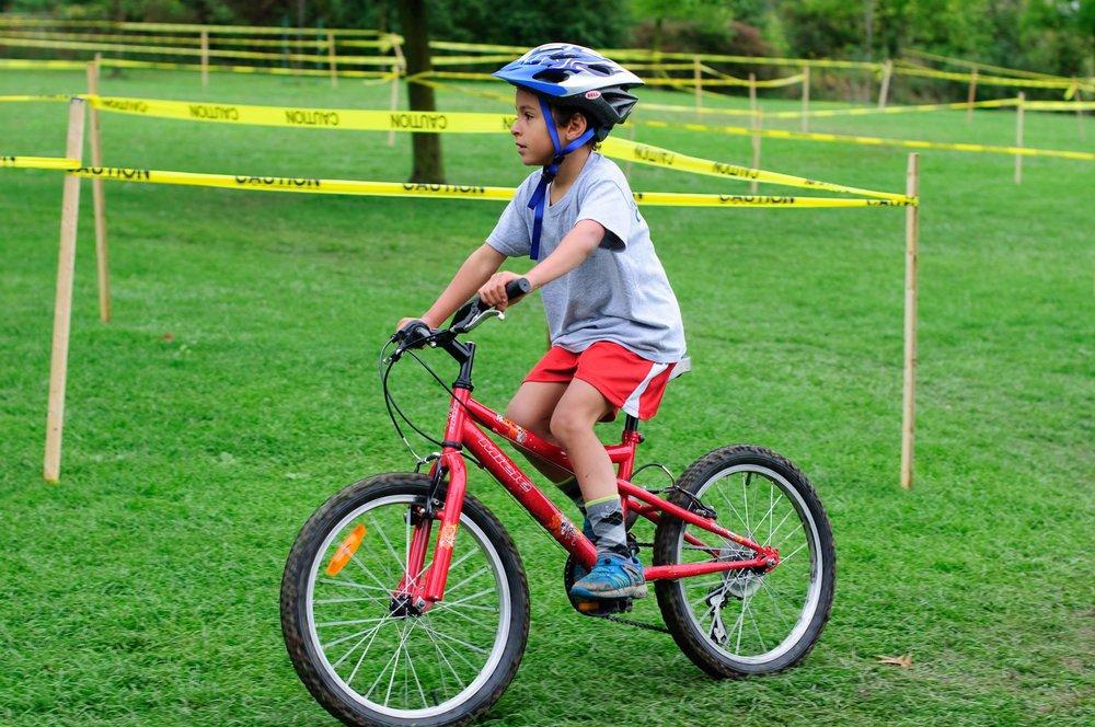 Having fun on a bike is the goal.
