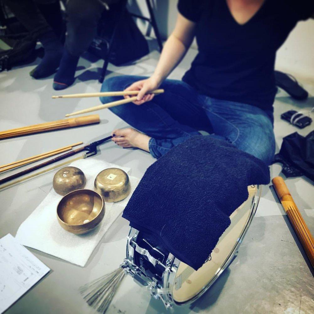 Sarah Mullins, percussion