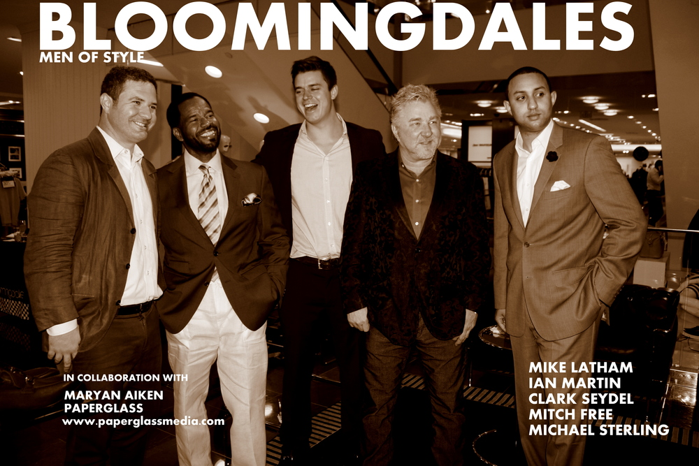 MIke Latham, Ian Martin, Clark Seydel, Mitch Free & Michael T. Sterlingat bloomingdale's for the first delivery of The MEn of Style.