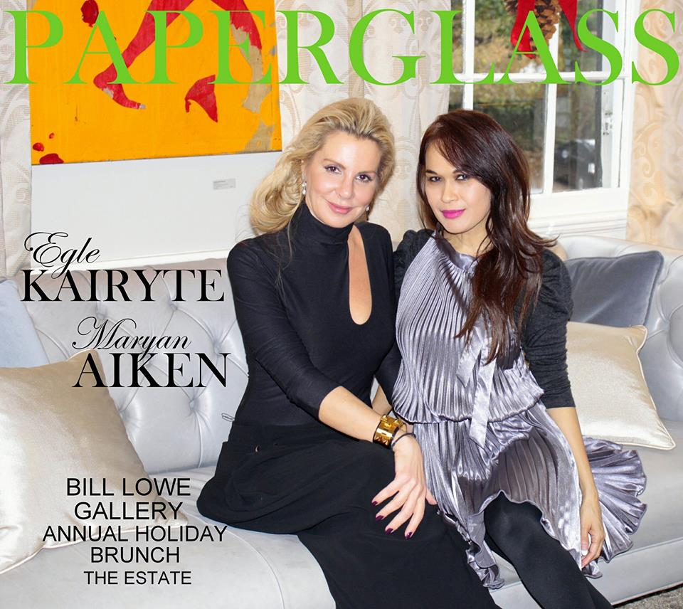 at the estate in buckhead. bill lowe gallery annual holiday brunch. socialite egle kairyte & maryan aiken  founder of paperglass media. more photos soon!