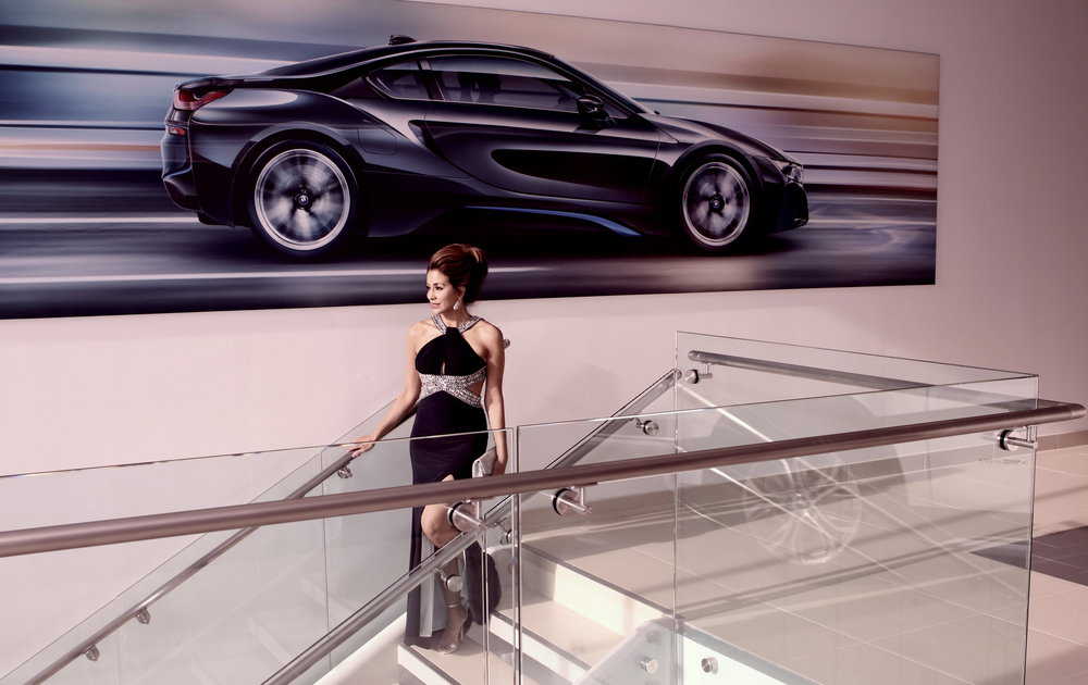 suzette osaba bryan . bloomingdale's fashion maven. presented by paperglass. shot on location at united bmw.