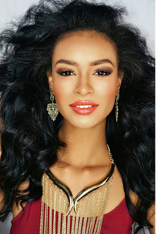 miss georgia international 2017, yasmeen furman serves as co host for beyond beauty at american cut in buckhead.