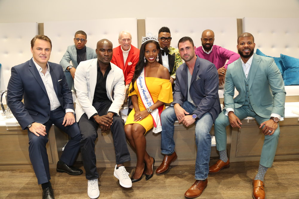 michael rinaudo with the men of style  along with lacrisha saba, mrs georgia america 2017 and founder of with love global foundation.