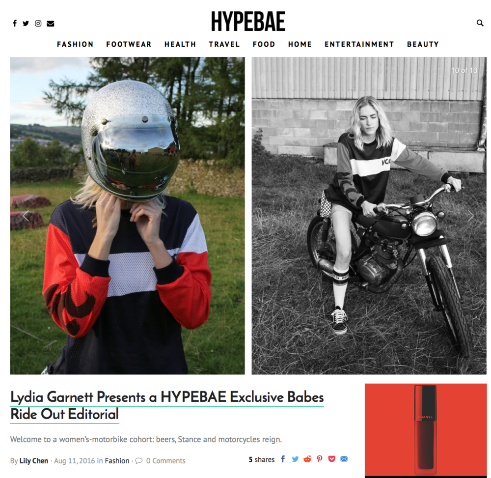 HYPE BAE EDITORIAL BY LYDIA GARNETT