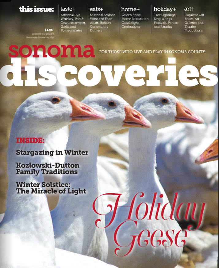 Sonoma Discoveries magazine features Sonoma County whiskeys
