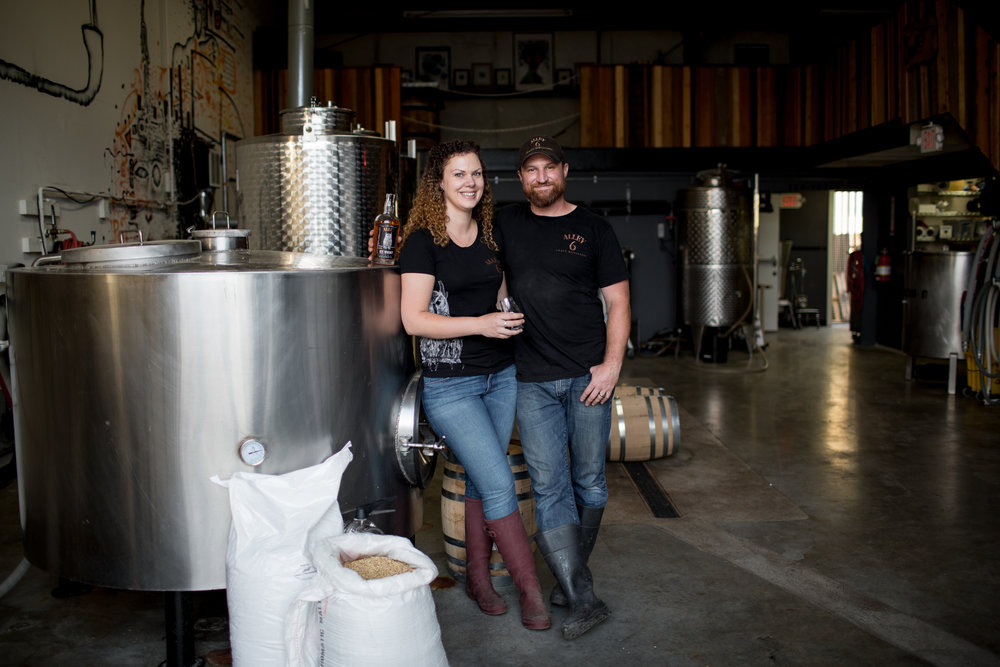 owners of craft whiskey and gin distillery in Healdsburg, California