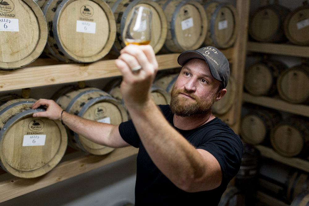whiskey tasting at Alley 6 craft distillery in Healdsburg, California
