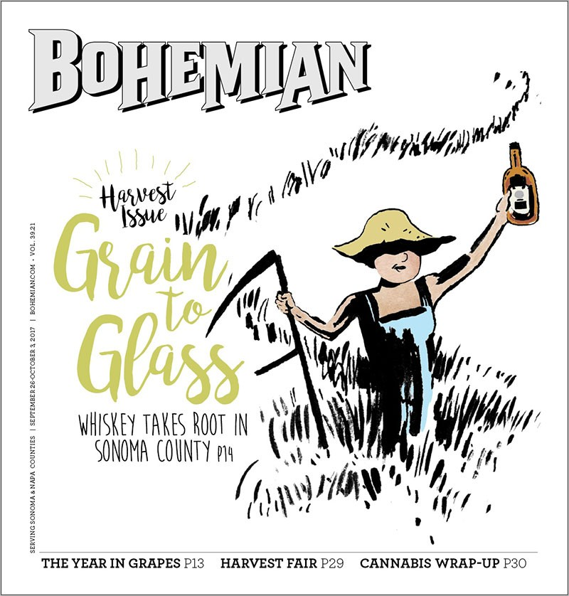 grain to glass - whiskey in Sonoma County California