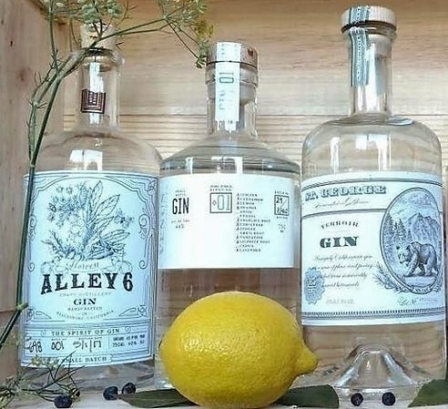 harvest gin made at Alley 6 craft distillery in Healdsburg, CA