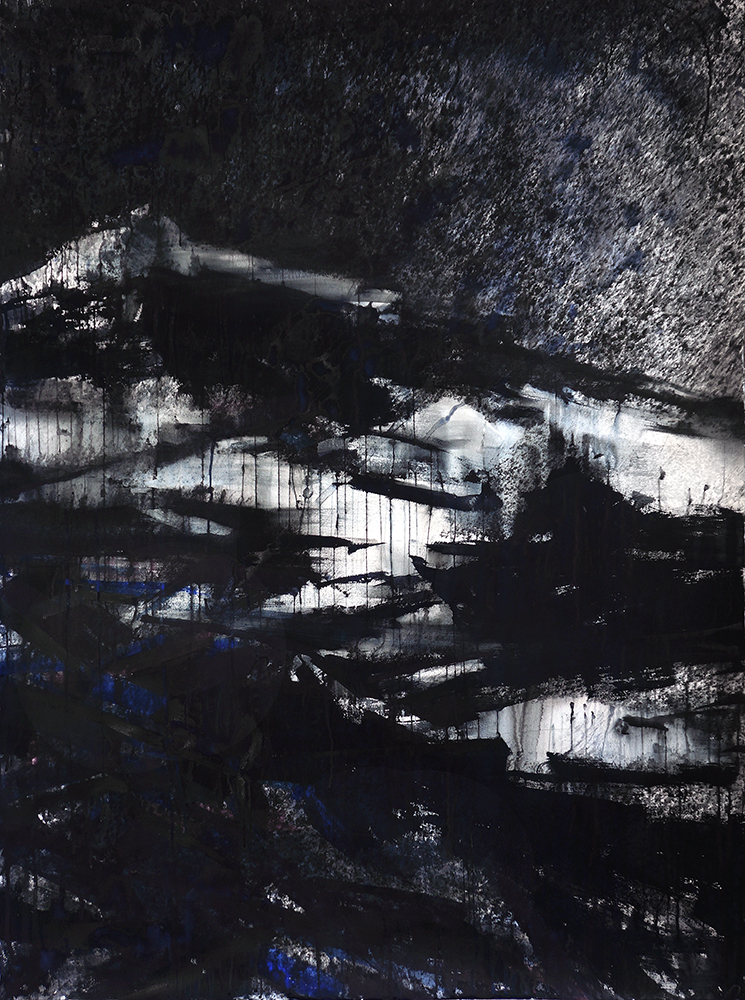 """67P V"" watermedia on paper. 70""x52"" (178x132 cm). 2015"