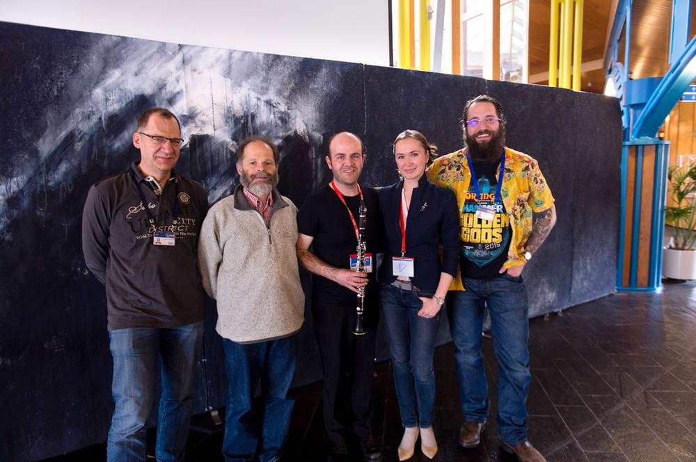 Show at ESTEC: Johannes Benkhoff, Joe Zender,Lee Mottram, Ekaterina Smirnova, Matt Taylor