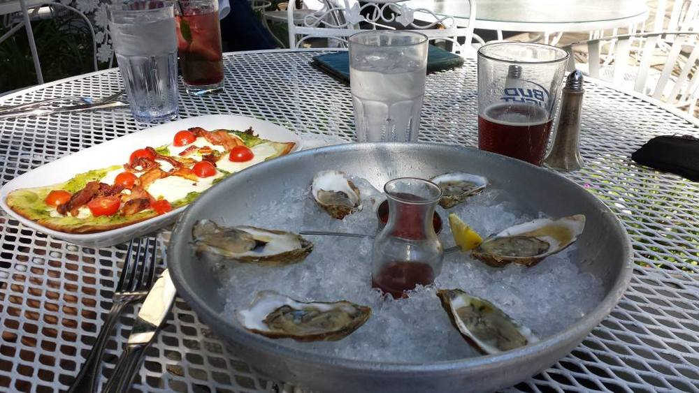 Raw Oysters at Tewksbury Inn