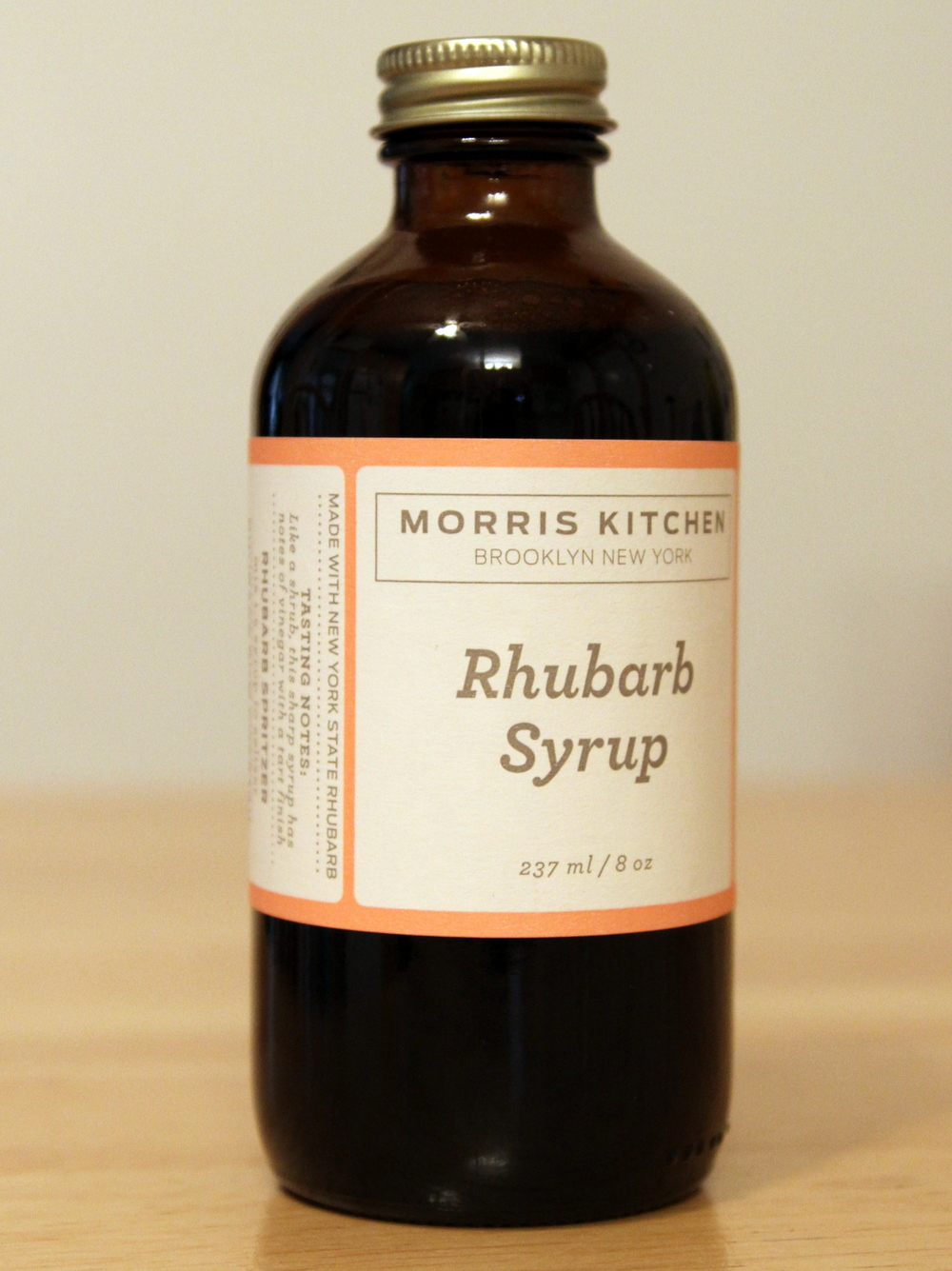 I used Morris Kitchen Rhubarb Syrup. Made in Brooklyn, but found in our wine store in NJ.