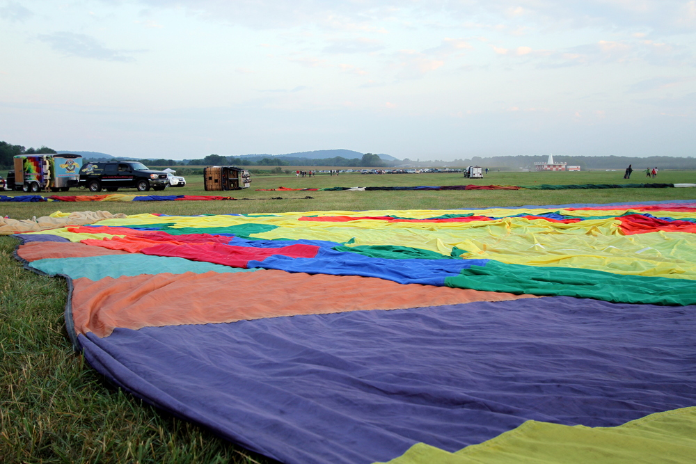flattened balloons