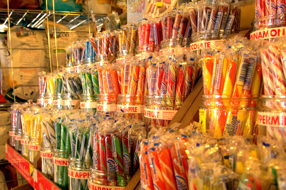 I still get giddy looking at this array of stick candy at Lakeside Farms.