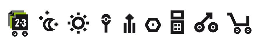 Auto parts retailer icons – too masculine.