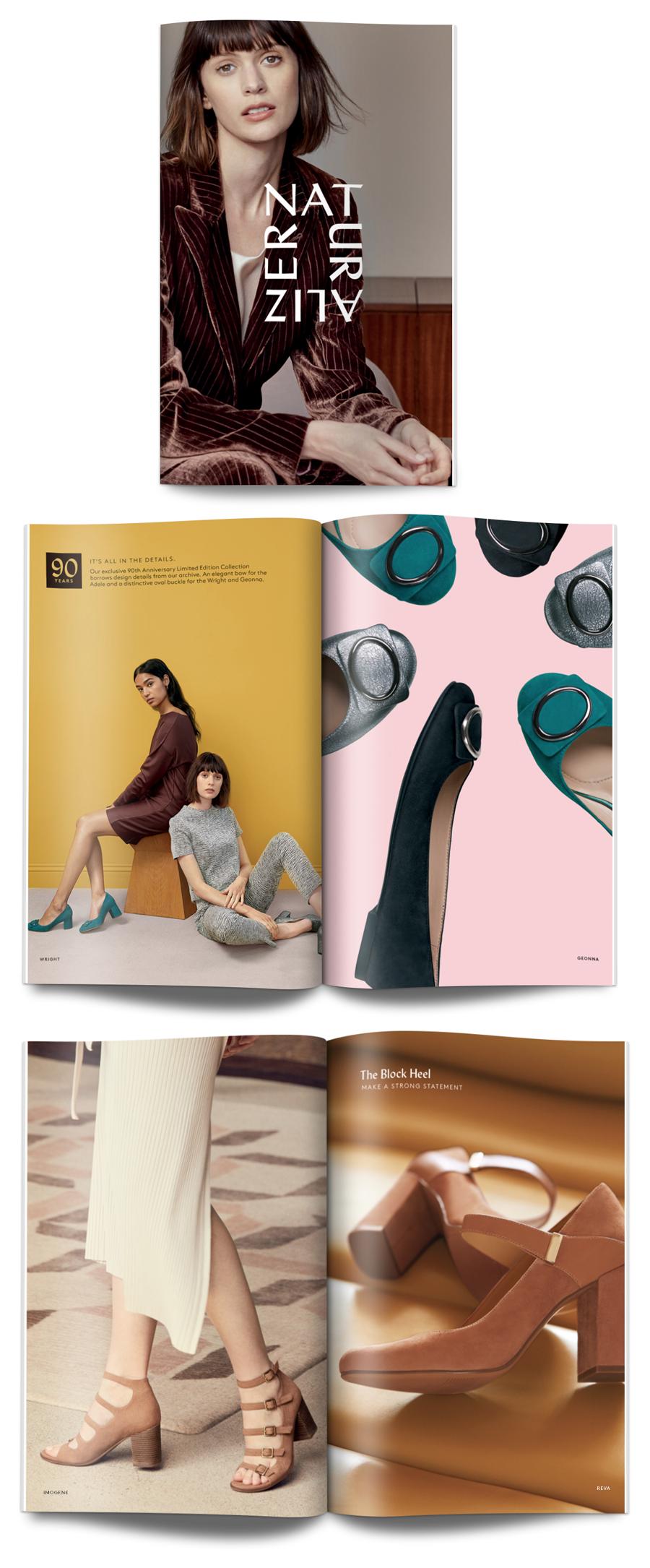 Naturalizer Autumn/Winter 2017 Look Book design concepts. Creative director:  Adam Reichmann ; Writer:  Tracy Marklein