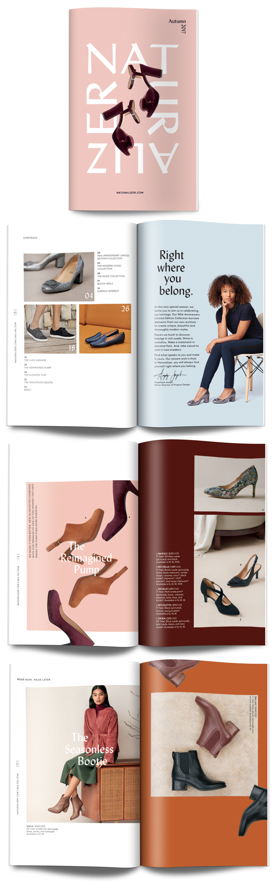 Naturalizer Autumn 2017 catalog design. Creative director:  Adam Reichmann ; Writer:  Tracy Marklein