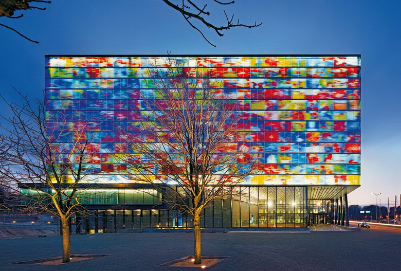 Netherlands Institute of Sound and Vision, Hilversum.   Architect: Neutelings Riedijk The Museum of Music in New York City has a similar vision for the design of the exterior of the future museum building.