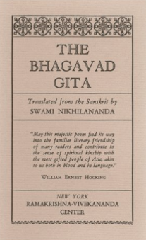 The Bhagavad Gita Translation & Commentary by Swami Nikhilananda