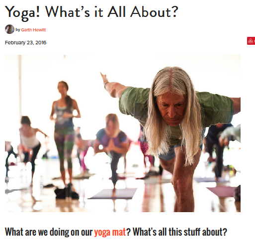Yoga!  What's it All About?