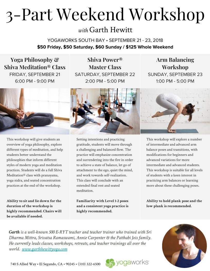 Garth Hewitt Yoga — Workshops