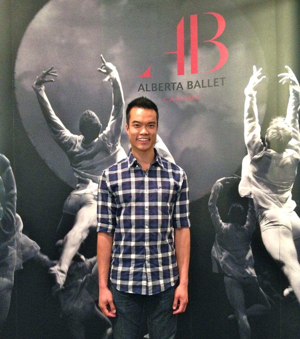 Vince at the 2012 Alberta Ballet season opening