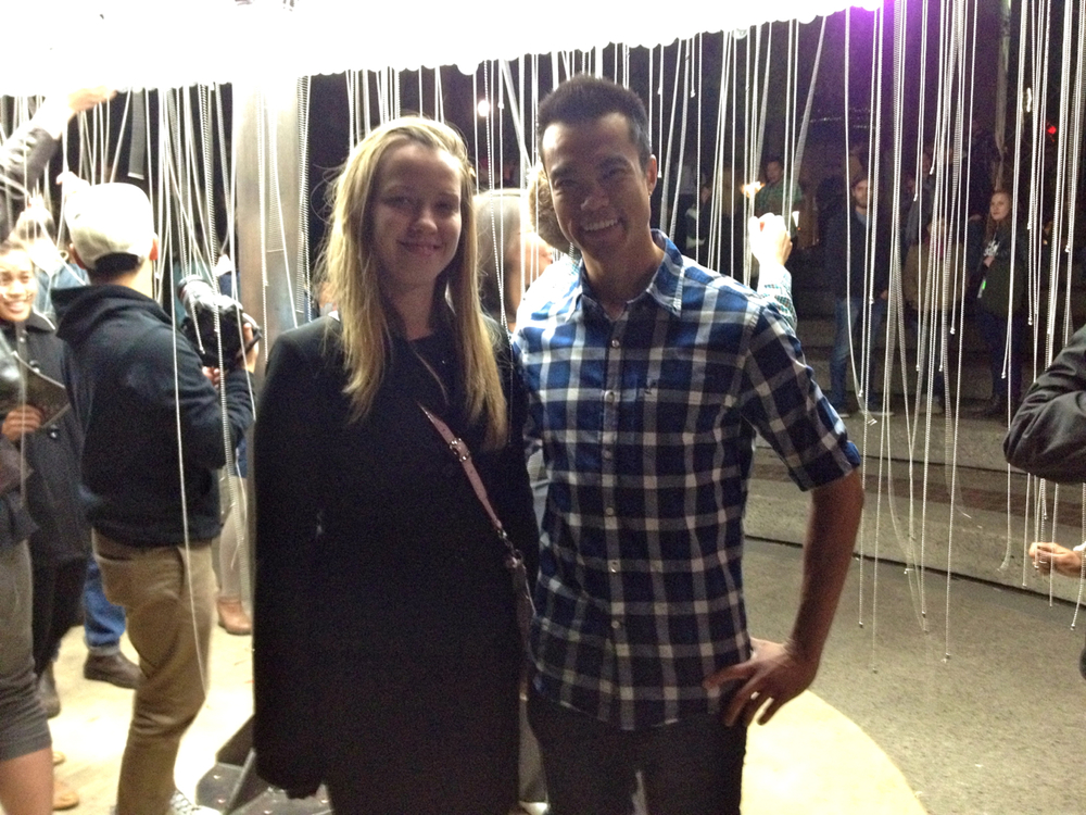 Sarah and Vince at Nuit Blanche