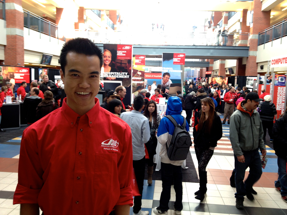This year, I had the pleasure of helping to host SAIT's winter Open House!