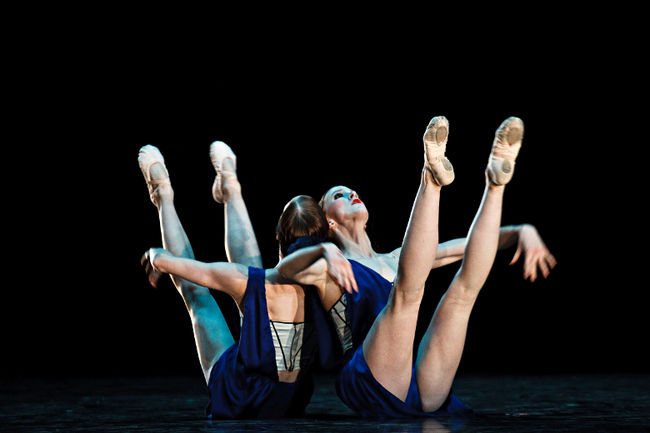"Alberta Ballet company members, Alexandra and Jennifer Gibson, perform in ""Pomp without circumstance"". Photo by Codie McLachlan, Edmonton Sun/QMI Agency."