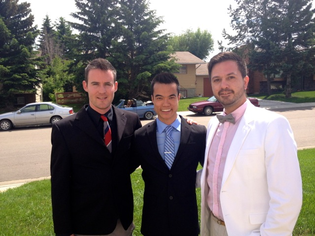 With my friends Kaare' and Brent. We were celebrating Brent's sister Alisa's wedding.