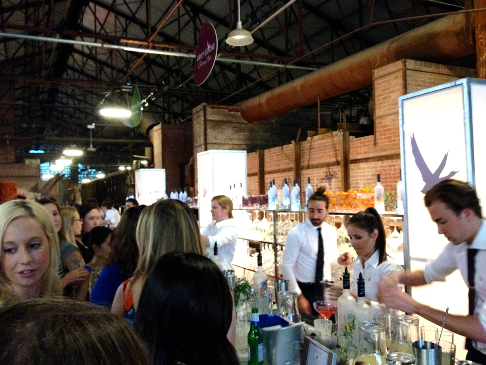 The bartenders at the Grey Goose bar featured flavours the Goose's L'Orange, La Poire and Cherry Noir flavours.