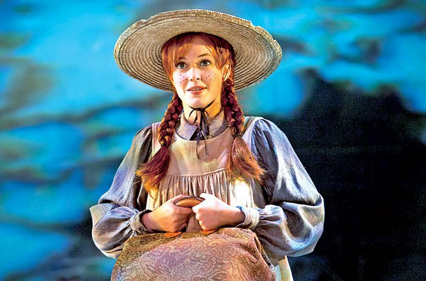Jill Agopsowicz is Theatre Calgary's Anne Shirley. Photo by Trudie Lee.