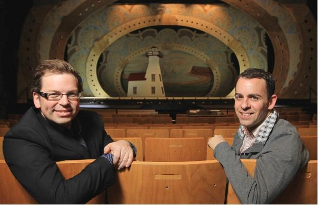 Musical supervisor, Dave Pierce and director, Dennis Garnhum. Photo by Trudie Lee.