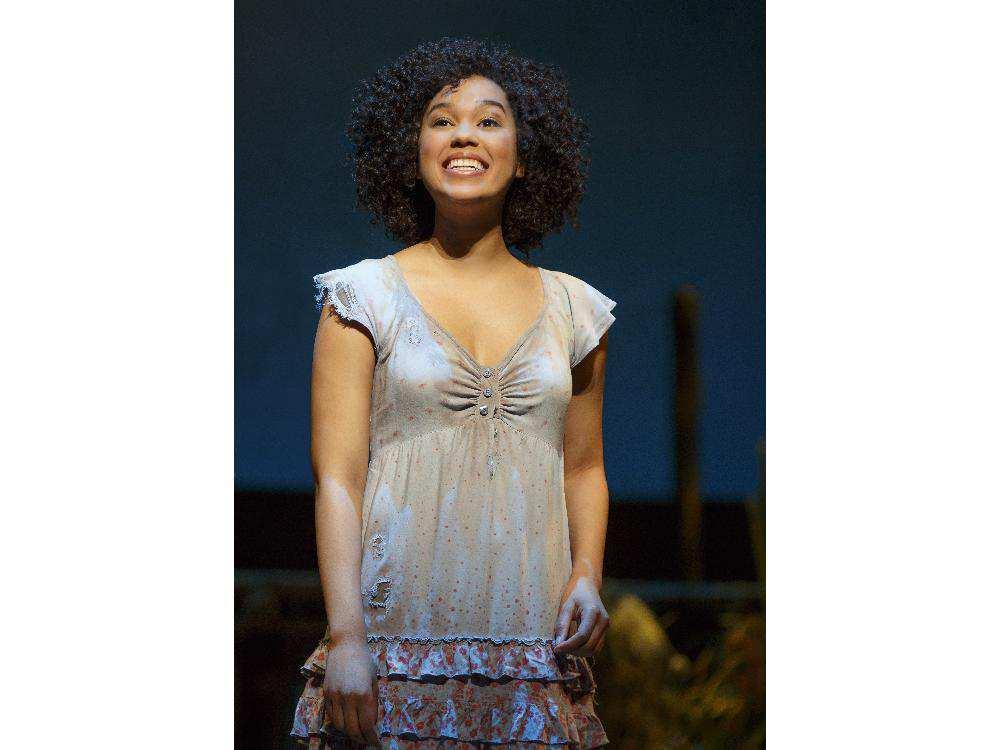 Alexandra Ncube's performance as Nabulungi is stunning. Photo credit: Joan Marcus, Calgary Herald.