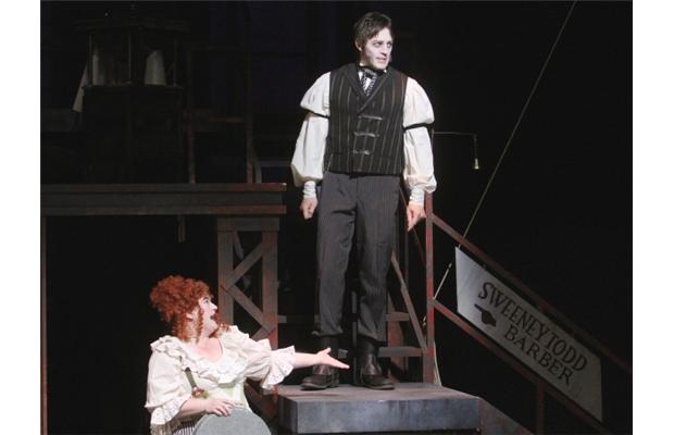 Mrs. Lovett and Sweeney Todd (Kevin Aichele) bring the show's INFAMOUSLY twisted characters alive on stage.